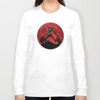 neon genesis evangelion Long Sleeve T-shirts featuring Neon Genesis Evangelion Unit 01 - Hill Top by kamonkey