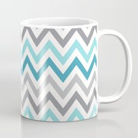 tina Mugs featuring TINA CHEVRON 2 by JUNE blossom
