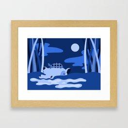 Animal Series: Blue Ippo + Turtle Framed Art Print