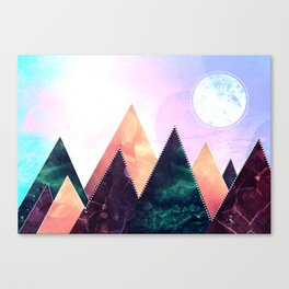 Sunrise of the moon Canvas Print