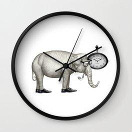 Elefante con gafas, espera. Wall Clock