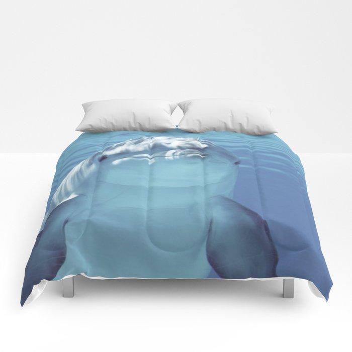 Dolphin under Water Comforters
