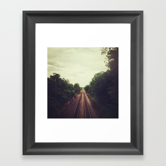above the tracks Framed Art Print