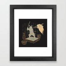 Soba Samurai Framed Art Print