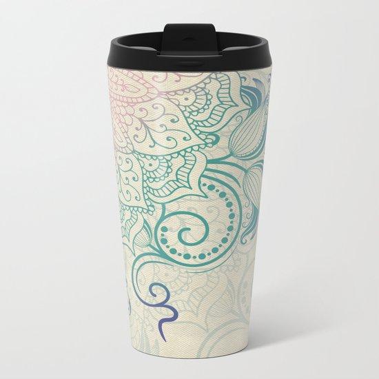 Mandala - Canvas Metal Travel Mug