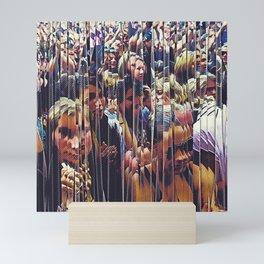 Faces In The Crowd Mini Art Print