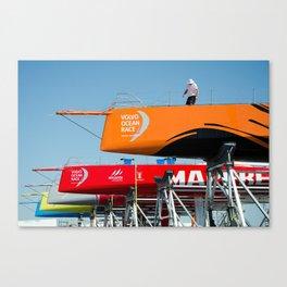 Ocean race sky Canvas Print