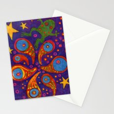 Space Frog batik Stationery Cards
