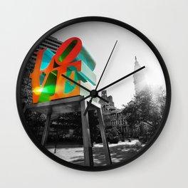 LOVE Park and City Hall - Philadelphia Wall Clock