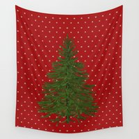 christmas tree Wall Tapestries featuring *(Christmas) Tree* by Mr & Mrs Quirynen