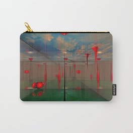 Futuristic Landscape 3D Modeling Sci-Fi Art Carry-All Pouch
