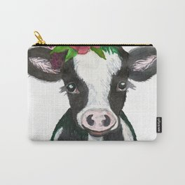 Baby Holstein Calf Carry-All Pouch