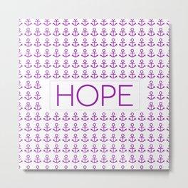 Hope (anchors) - Hebrews 6:19 Metal Print