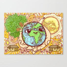 Earth is our Home! Canvas Print