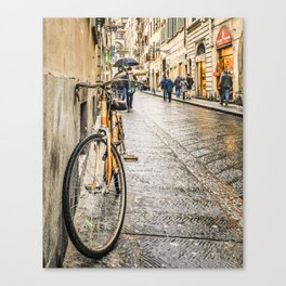 Street of Historic Center of Florence Canvas Print