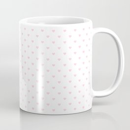 Light Soft Pastel Pink Mini Love hearts on White Coffee Mug