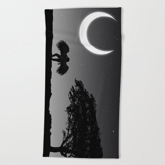 Lonely nights. Beach Towel