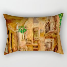 Italian City Street Rectangular Pillow