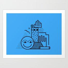 Still Life in Blue Art Print