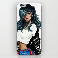 rihanna iPhone & iPod Skins featuring Rihanna by Armand Mehidri