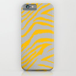 ANIMAL PRNT ZEBRA GRAY AND GOLDEN YELLOW 2019 iPhone Case