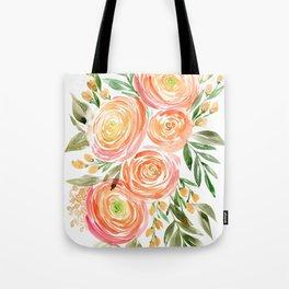 Watercolor ranunculus in rose gold Tote Bag