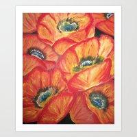 Flora - Poppies Art Print