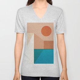 Abstraction_SUN_Architecture_Dimension_Minimalism_001 Unisex V-Neck