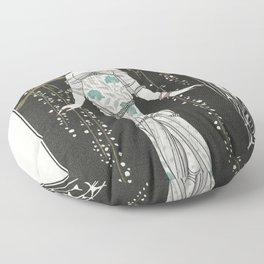 Rosalinde Robe du soir (1922) fashion  in high resolution by George Barbier Floor Pillow