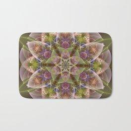 Fantasy flower with tribal patterns Bath Mat