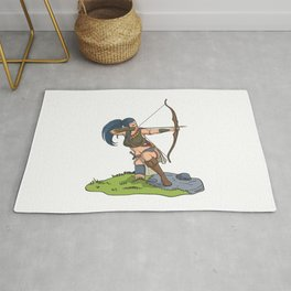 Archer roleplaying warrior elf Rug
