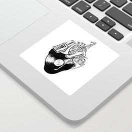 A Musical Heart Sticker