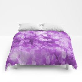 Bokeh Light In Violet #decor #society6 #homedecor Comforters