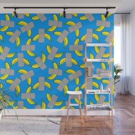 taped banana art Wall Mural