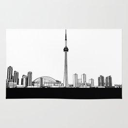 Toronto Skyline - Black Base Rug