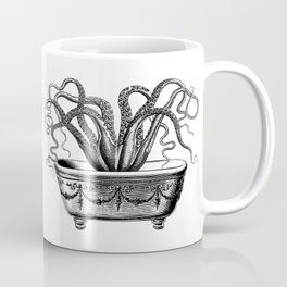 Tentacles in the Tub | Octopus | Black and White Coffee Mug