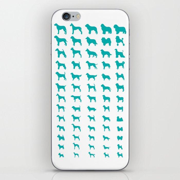 All Dogs (Aqua) iPhone Skin
