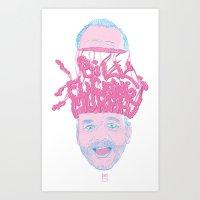 Bill Fucking Murray Art Print