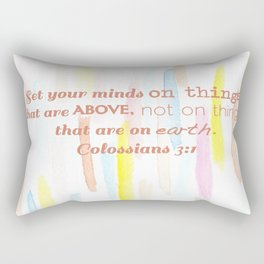 On thing above - illustration Rectangular Pillow