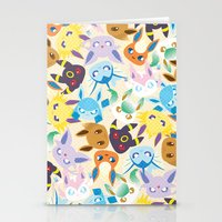 eevee Stationery Cards featuring Eevee Evolutions by RAVEFIRELL