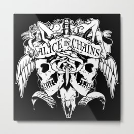 alice in chains logo tour 2020 2021 ngapril Metal Print