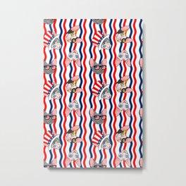 patriotic sphynx rick rack Metal Print