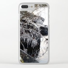 Icicles on branches Clear iPhone Case