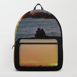 Daybreak on the river Backpack