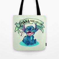 ohana Tote Bags featuring Ohana by KanaHyde