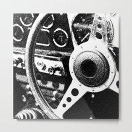 """Classic Car Wheel"" Metal Print"