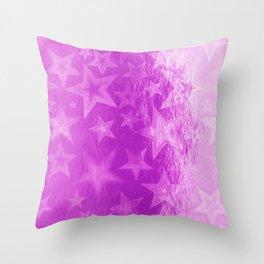 Cerise Pink Fuschia Starshine Throw Pillow