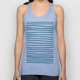 Ocean Green Hand-painted Stripes Unisex Tank Top