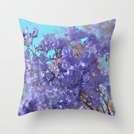 Purple and Blue Party! Throw Pillow