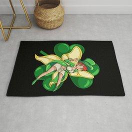 Irish Fairy - St. Patrick's Day Kawaii Fantasy Rug